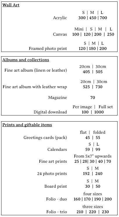 mini session print pricing 1